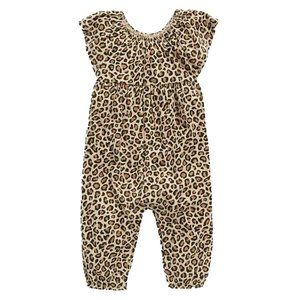 Old Navy Leopard Jersey Jumpsuit. Baby Sizes